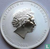 "Australië 1 dollar 2008 (kleurloos) ""Year of the Mouse"""