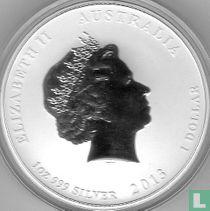 "Australië 1 dollar 2013 (kleurloos - zonder privy merk) ""Year of the Snake"""