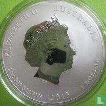 """Australië 1 dollar 2013 (kleurloos - met privy merk) """"Year of the Snake"""""""