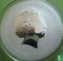 """Australië 1 dollar 2013 (groengekleurde slang) """"Year of the Snake"""""""