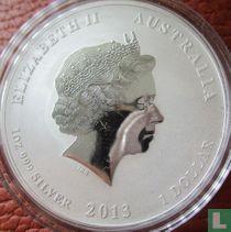 "Australië 1 dollar 2013 (gedeeltelijk verguld) ""Year of the Snake"""
