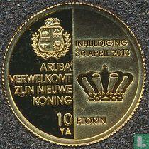 "Aruba 10 florin 2013 (PROOF) ""Investiture of King Willem-Alexander"""
