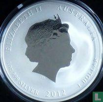 "Australië 1 dollar 2012 (gedeeltelijk verguld) ""Year of the Dragon"""