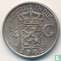 Nederlands-Indië ¼ gulden 1941 (S)