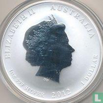 "Australië 1 dollar 2012 (zonder privy merk) ""Year of the Dragon"""