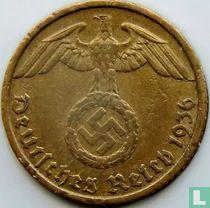Duitse Rijk 5 reichspfennig 1936 (hakenkruis - D)