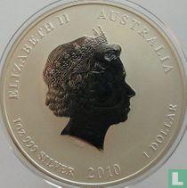 "Australië 1 dollar 2010 (kleurloos) ""Year of the Tiger"""