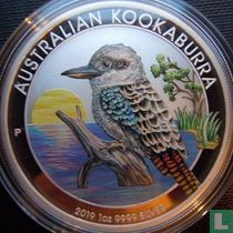 """Australië 1 dollar 2019 (gekleurd) """"Kookaburra"""""""