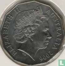 "Australië 50 cents 2006 ""80th birthday of Queen Elizabeth II"""