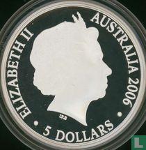 "Australië 5 dollars 2006 (PROOF) ""400th anniversary of the Duyfken's exploration of Australia"""