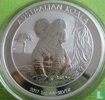 """Australië 1 dollar 2017 (zonder privy merk) """"Koala"""""""