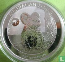 """Australië 1 dollar 2017 (met privy merk) """"Koala"""""""