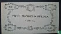 Schoolgeld 200 Gulden 1860