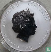 "Australië 1 dollar 2015 (kleurloos - zonder privy merk) ""Year of the Goat"""