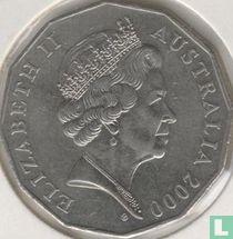 """Australia 50 cents 2000 """"Royal Visit 2000"""""""