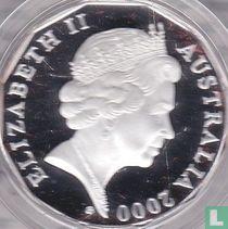 """Australia 50 cents 2000 (PROOF) """"Royal Visit 2000"""""""
