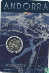 "Andorra 2 euro 2019 (coincard - Govern d'Andorra) ""Final of the Alpine Ski World Cup in Andorra"""