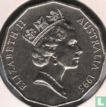 """Australia 50 cents 1995 """"50th anniversary of the end of World War II - Sir Edward Dunlop"""""""