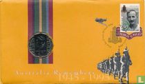 """Australia 50 cents 1995 (Numisbrief) """"50th anniversary of the end of World War II - Sir Edward Dunlop"""""""