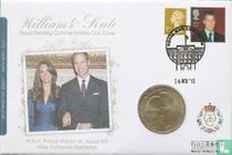 "Alderney 5 pounds 2010 (Numisbrief) ""Engagement of Prince William and Catherine Middleton"""