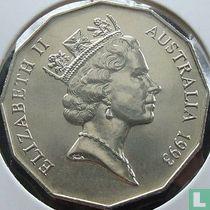 Australia 50 cents 1993