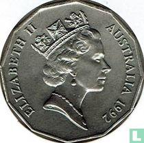 Australia 50 cents 1992