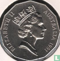 """Australia 50 cents 1991 """"25th Anniversary of decimal currency"""""""
