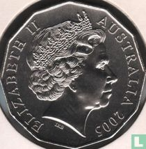 """Australië 50 cents 2005 """"60th Anniversary of the End of World War II"""""""