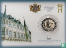"""Luxembourg 2 euro 2019 (coincard) """"Centenary Accession to the throne of the Grand Duchess Charlotte"""""""