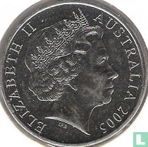 """Australië 20 cents 2005 """"60th anniversary of the end of World War II"""""""