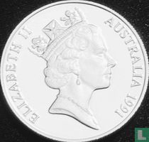 "Australië 10 dollars 1991 (PROOF - Piedfort) ""Jabiru"""