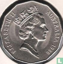 """Australië 50 cents 1988 """"Bicentenary of European settlement in Australia"""""""