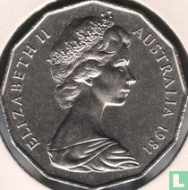 """Australia 50 cents 1981 """"Marriage of HRH Prince of Wales and Lady Diana Spencer"""""""