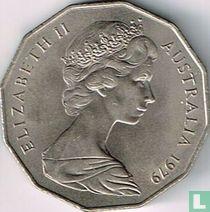 Australia 50 cents 1979 (without bars behind emu)