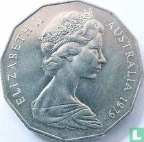 Australia 50 cents 1979 (with bars behind emu)