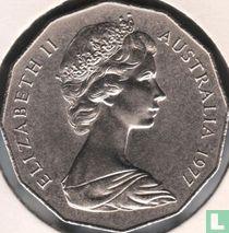 "Australia 50 cents 1977 ""25th anniversary of the Accession of Queen Elizabeth II"""