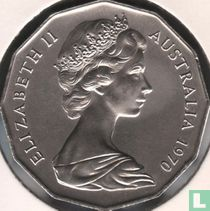 """Australië 50 cents 1970 """"Bicentenary of James Cook's discovery of the Eastern Australian coast"""""""