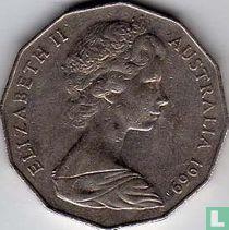 Australia 50 cents 1969