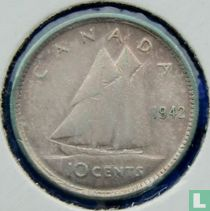 Canada 10 cents 1942