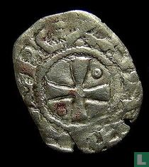 Crusader Kingdom  1 denier (Aimery or Amalric of Cyprus & Jerusalem) 1197-1205