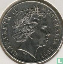 """Australië 20 cents 2001 """"Centenary of Federation  - Northern Territory"""""""