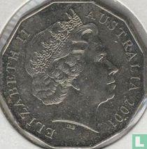 "Australië 50 cents 2001 ""Centenary of Federation - Tasmania"""