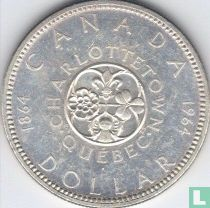 """Canada 1 dollar 1964 """"100th Anniversary of Charlottetown & Quebec Conferences"""""""