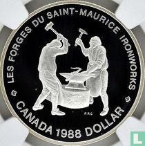 "Canada 1 dollar 1988 (PROOF) ""250th anniversary of Saint Maurice Ironworks"""