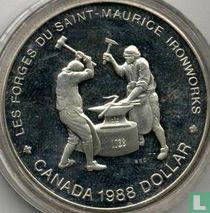 "Canada 1 dollar 1988 ""250th anniversary of Saint Maurice Ironworks"""