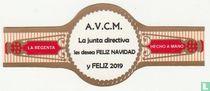A.V.C.M. La junta directiva les desea feliz Navidad y feliz 2019