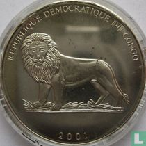 "Congo-Kinshasa 5 francs 2001 ""2006 Football World Cup in Germany"""