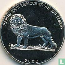 "Congo-Kinshasa 5 francs 2002 ""Football World Cup in South Korea and Japan"""