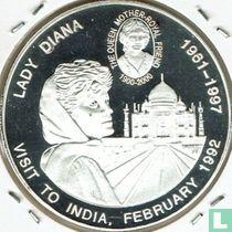 """Congo-Kinshasa 5 francs 2000 (BE) """"Lady Diana - Visit to India"""""""