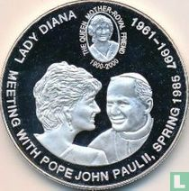 "Congo-Kinshasa 5 francs 2000 (BE) ""Lady Diana - Meeting with pope John Paul II"""